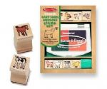 CHILDRENS CHILD MELISSA AND DOUG WOODEN BABY FARM ANIMALS STAMP SET